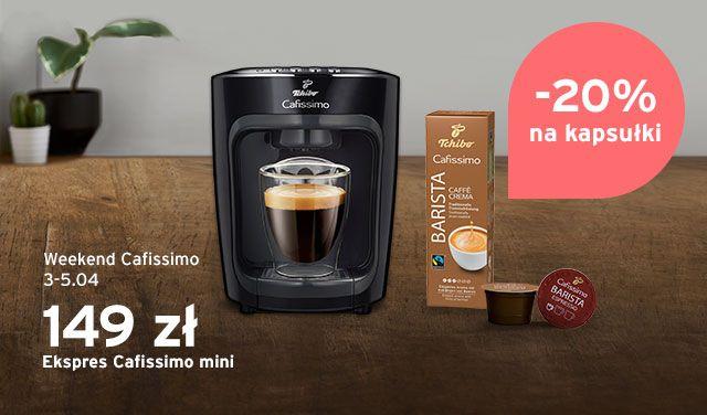 Cafissimo Weekend - 20% na kapsułki i niższe ceny ekspresów!