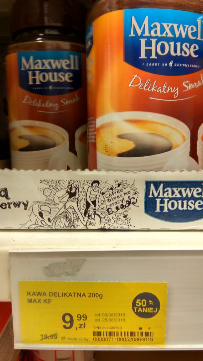 Maxwell House Delikatny Smak kawa rozpuszczalna 200g TESCO