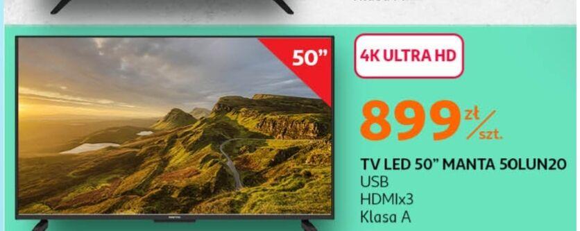 Manta 50lua19 telewizor 55 cali 899zł