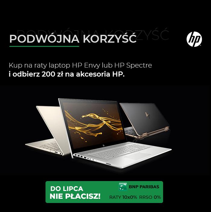 Podwójna Korzyść kup laptopa premium HP i odbierz akcesoria za 200 zł