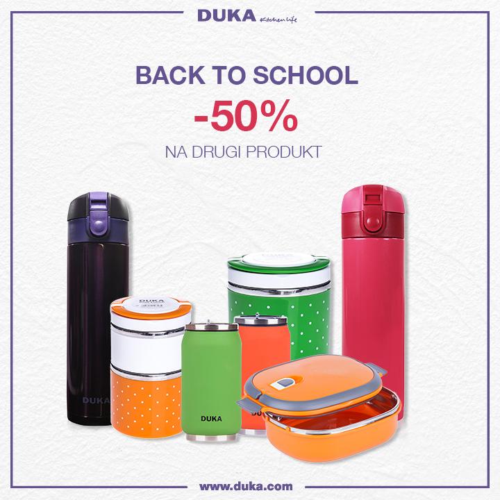 Duka, 50% na drugi produkt z kategorii termiczne kubki i lunch boxy.
