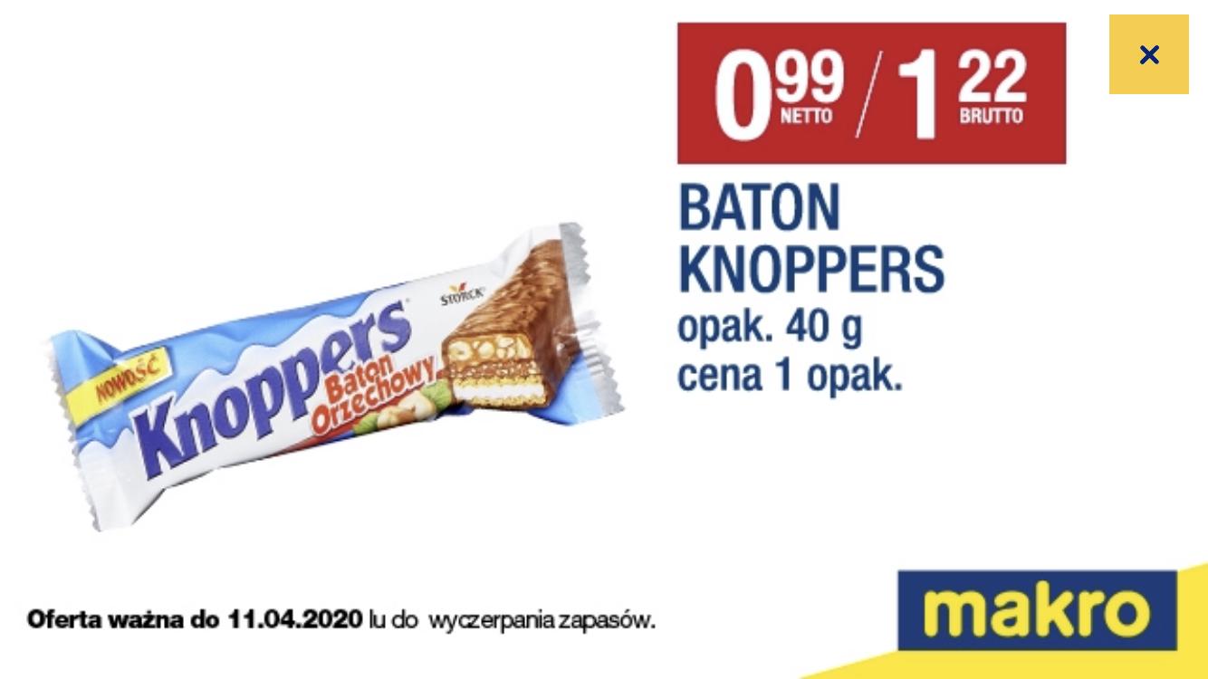 Baton Knoppers za 1,22 zł