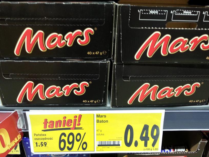 Baton Mars 47g Kaufland Lodz Widzew