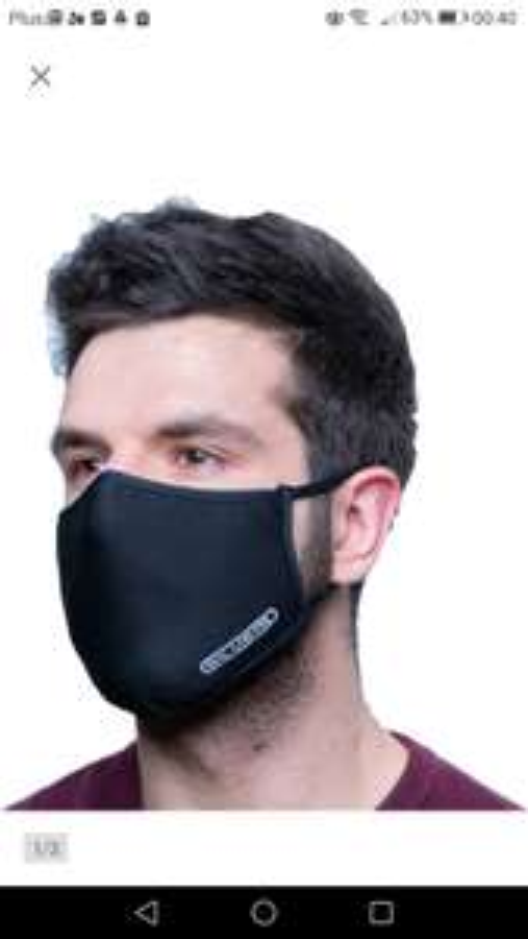 Maska Maseczka z certyfikatem SILVER PLUS jony Ag+