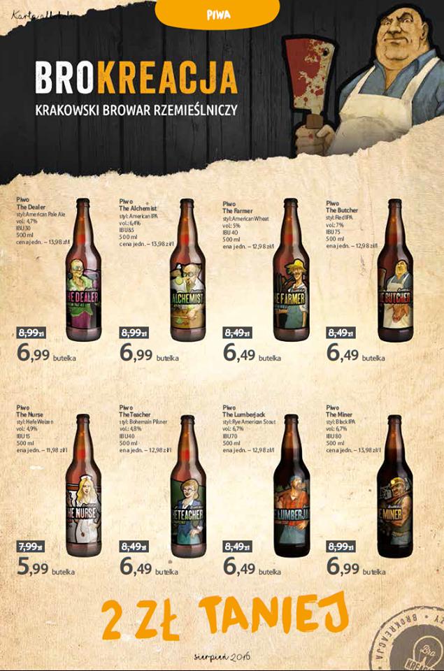 Piwa rzemieślnicze w Tesco 2 zł taniej