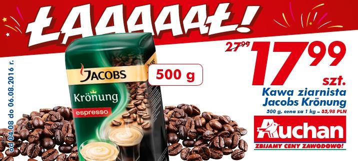 Kawa ziarnista Jacobs Krönung 500g @Auchan
