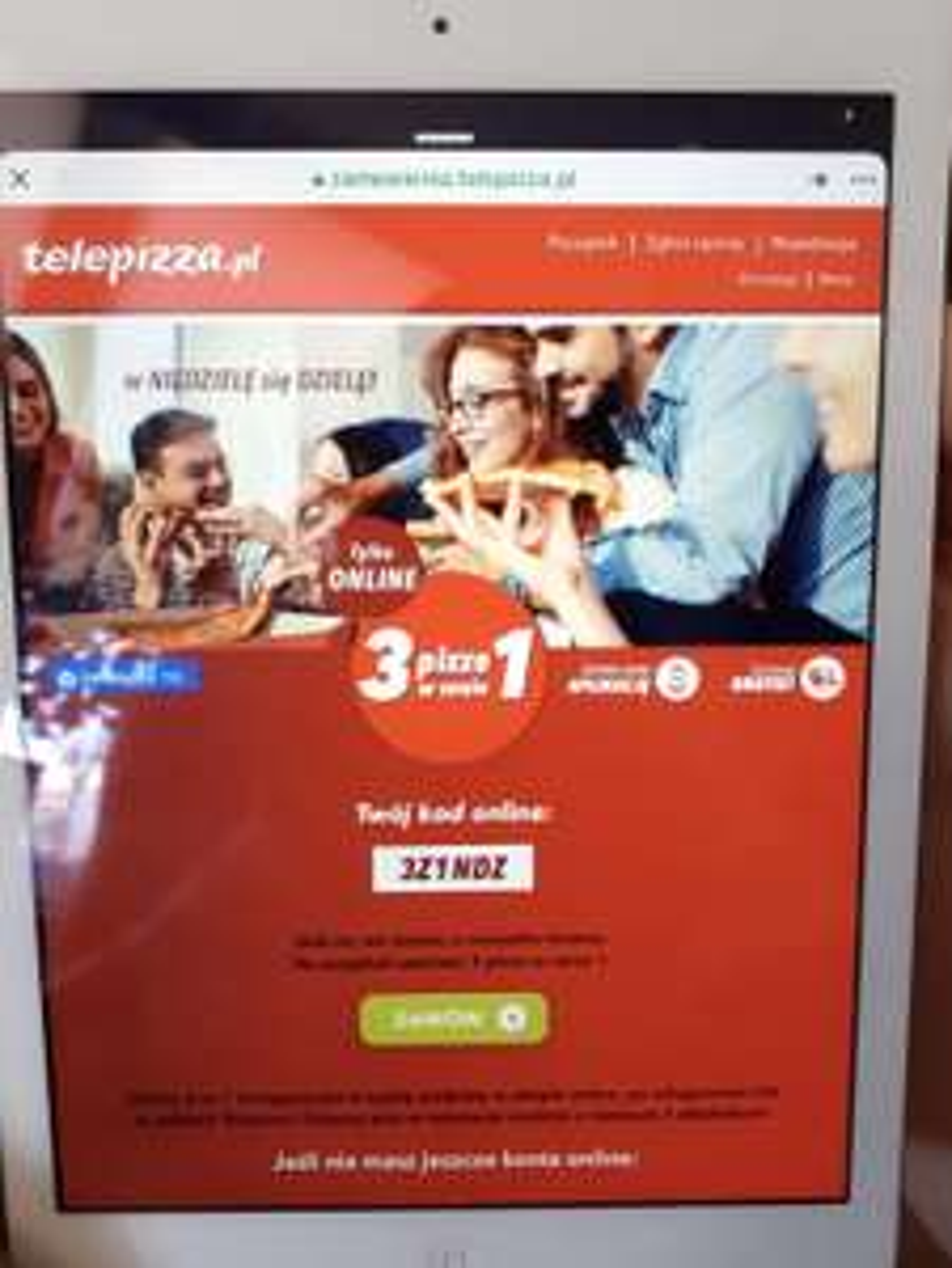 Telepizza 3 w cenie 1 średnie