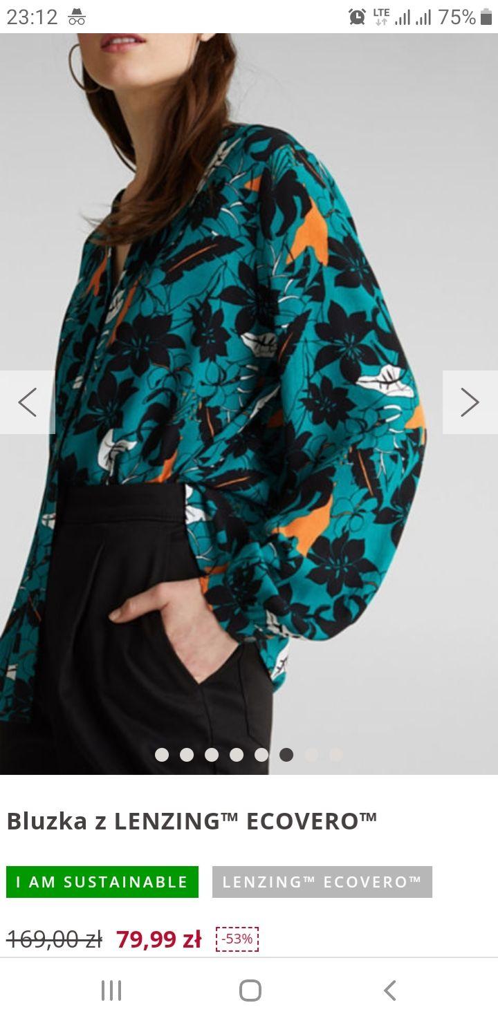 Esprit: smartcasualowa bluzka z wiskozy za 79,99 zł - 3 kolory