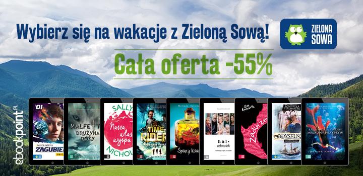Ebooki z wyd. ZIELONA SOWA aż 55% TANIEJ