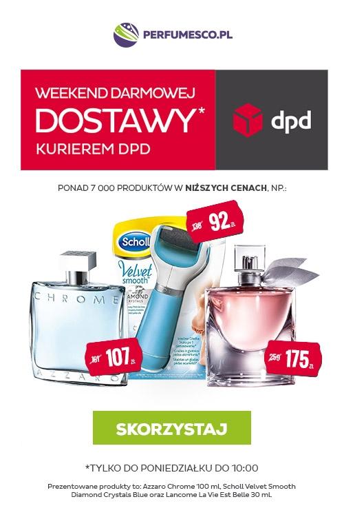 Perfumesco, darmowa dostawa kurierem DPD, 5-8.08