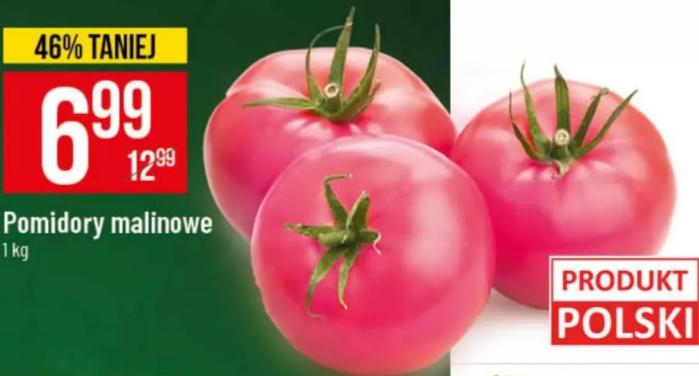 Pomidory malinowe 6,99 zł/kg w Polo Market