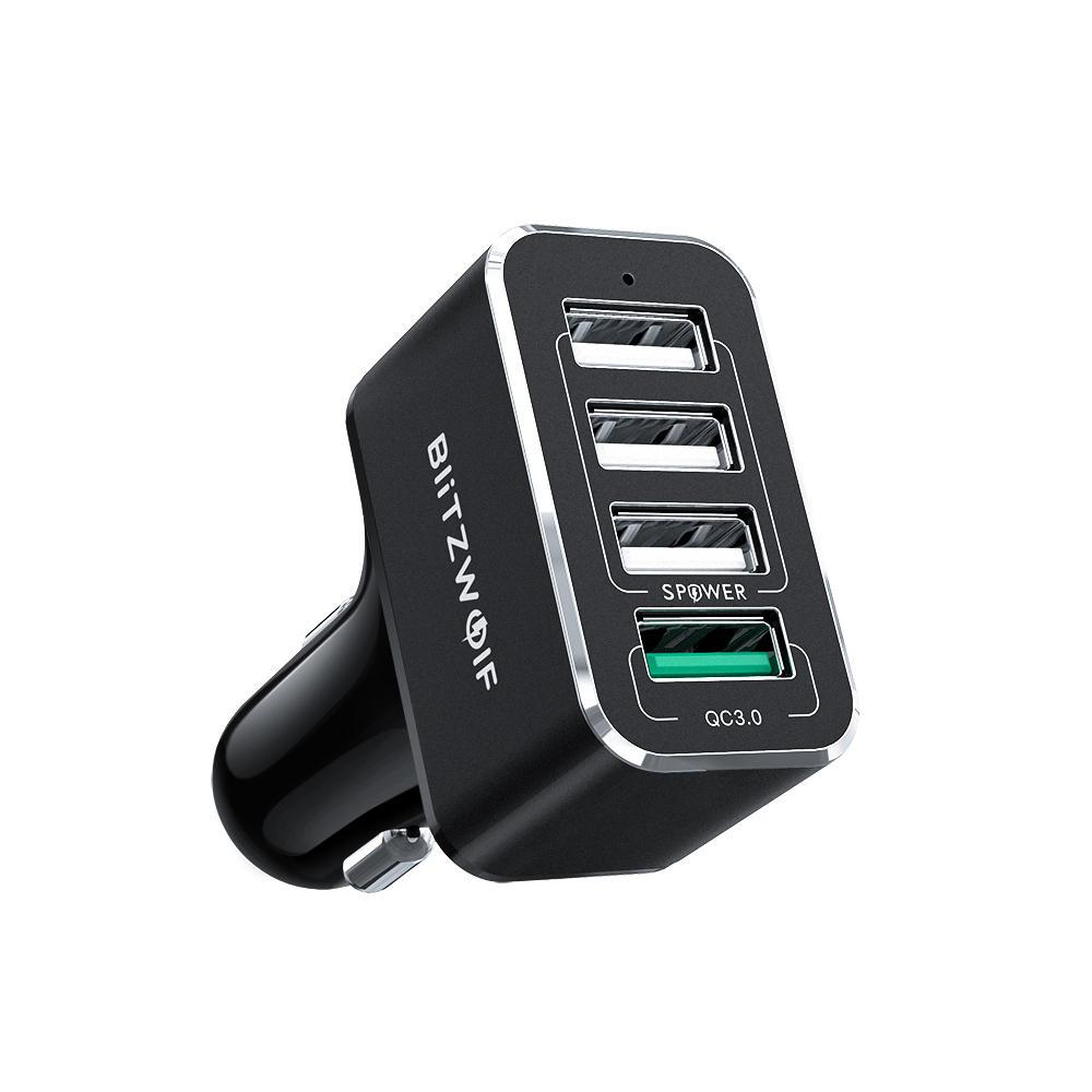 Ładowarka samochodowa BlitzWolf® BW-SD3 50W 4 USB Ports QC3.0 - 8,99$/35zł dostawa z UK