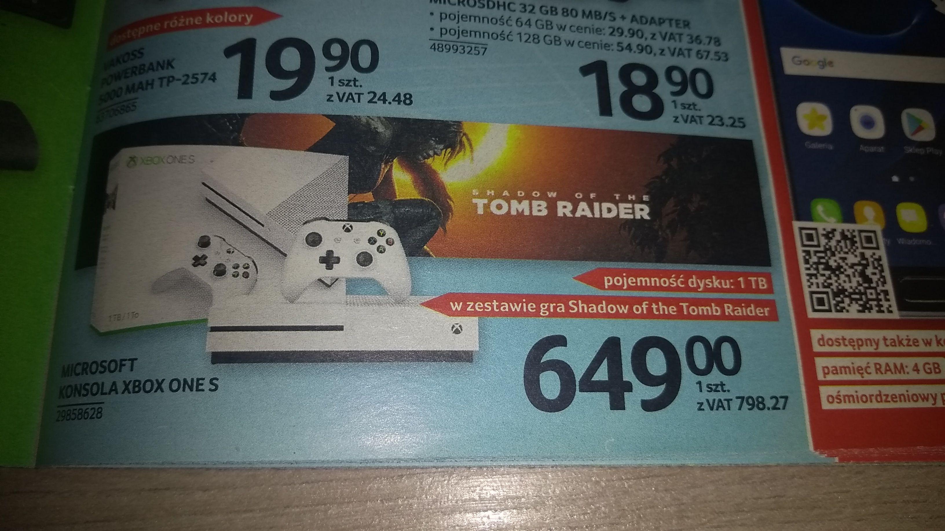 XBOX ONE S dysk 1TB + Shadow of the Tomb Raider w Selgros