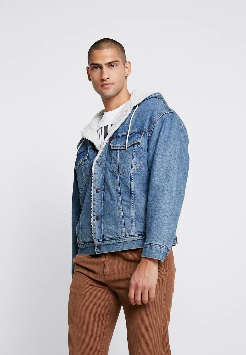 Ocieplana kurtka jeansowa Levi's z kapturem