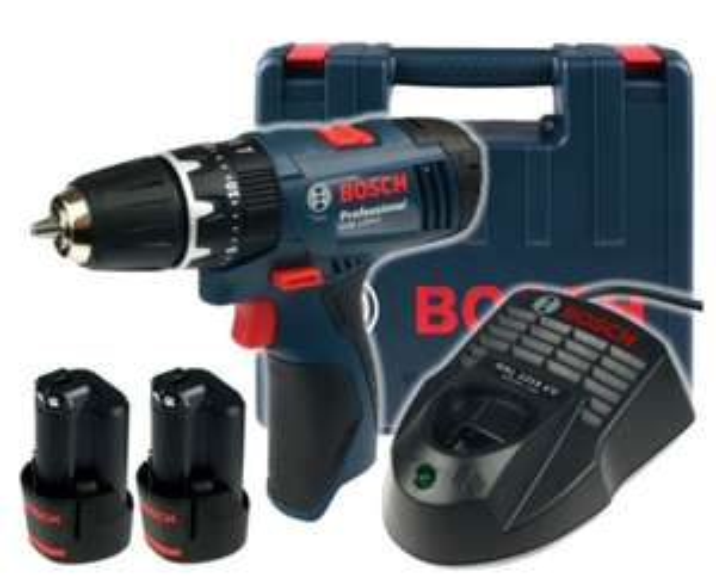 Akumulatorowa wiertarko-wkrętarka Bosch GSR 120-LI(2x1.5Ah Walizka)