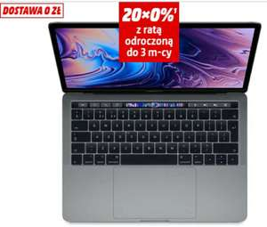 Laptop APPLE MacBook Pro 13.3 z Touch Bar i5 1.4GHz/8GB/128GB SSD/Iris Plus 645/macOS Gwiezdna Szarość MUHN2ZE/A