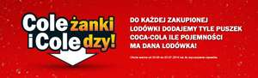 Tyle puszek Coca-Cola ile pojemności ma dana lodówka @ Media Markt