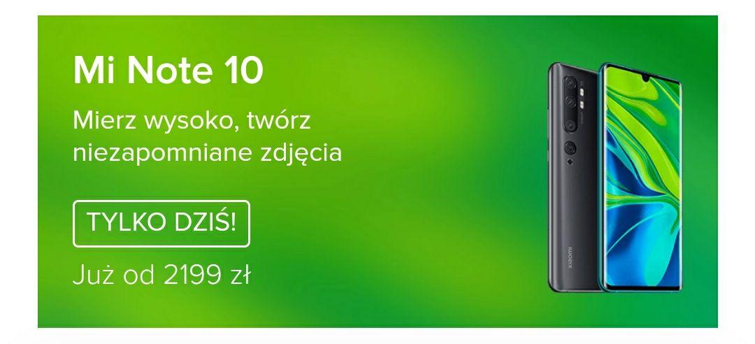 Xiaomi Mi Note 10 i 10 Pro, różne kolory