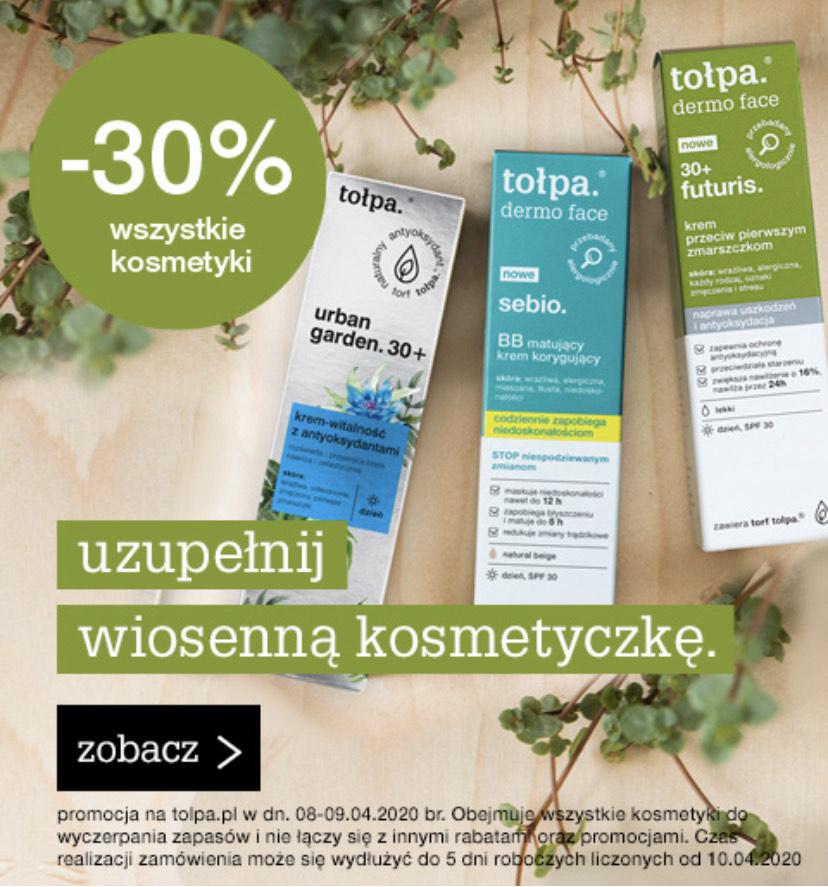 -30% na wszystkie kosmetyki w sklepie Tołpa.pl