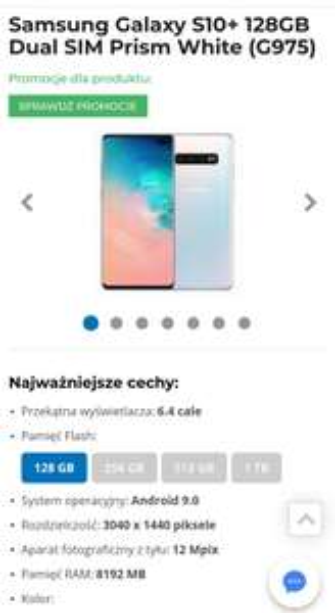 Smartfon Samsung S10+ ( odkup 400zl = 2699)
