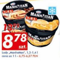 Lody Manhattan 1,3/1,4 l AUCHAN