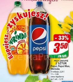 Pepsi, Pepsi Max, Mirinda 2,25l w Dino