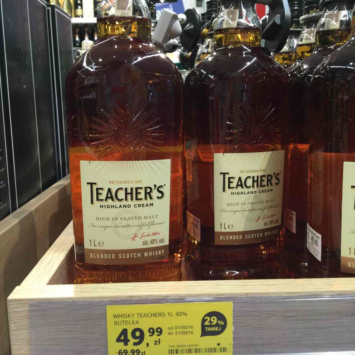 Whisky Teacher's 1L Tesco