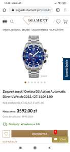 Zegarek męski Certina DS Action Automatic Diver's Watch C032.427.11.041.00