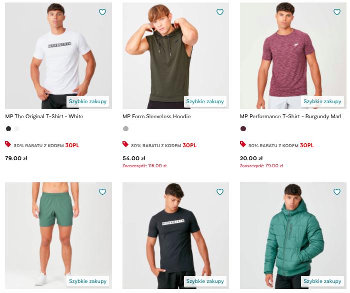 -44% na najlepiej sprzedające się produkty - odzież, odżywki i akcesoria treningowe @MyProtein