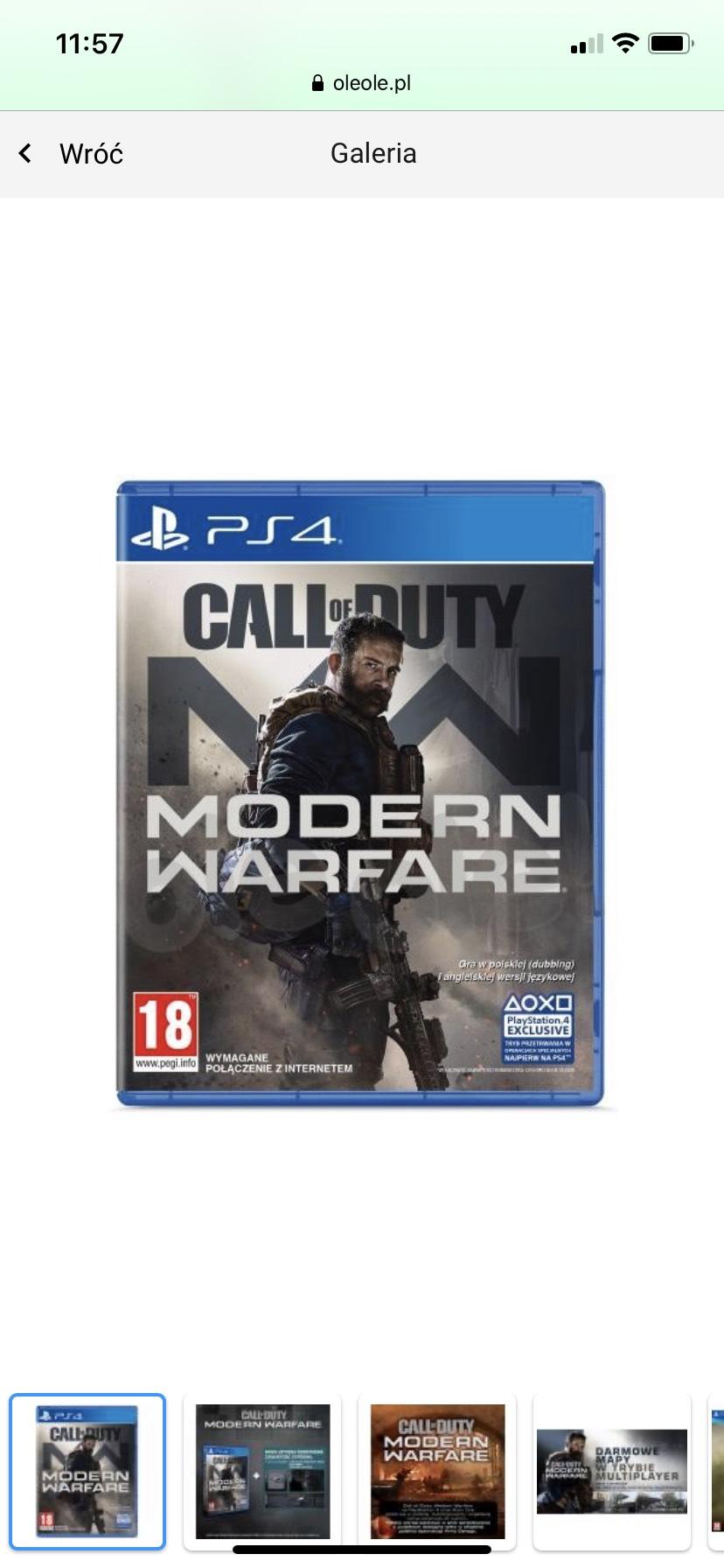 COD Modern Warfare PS4