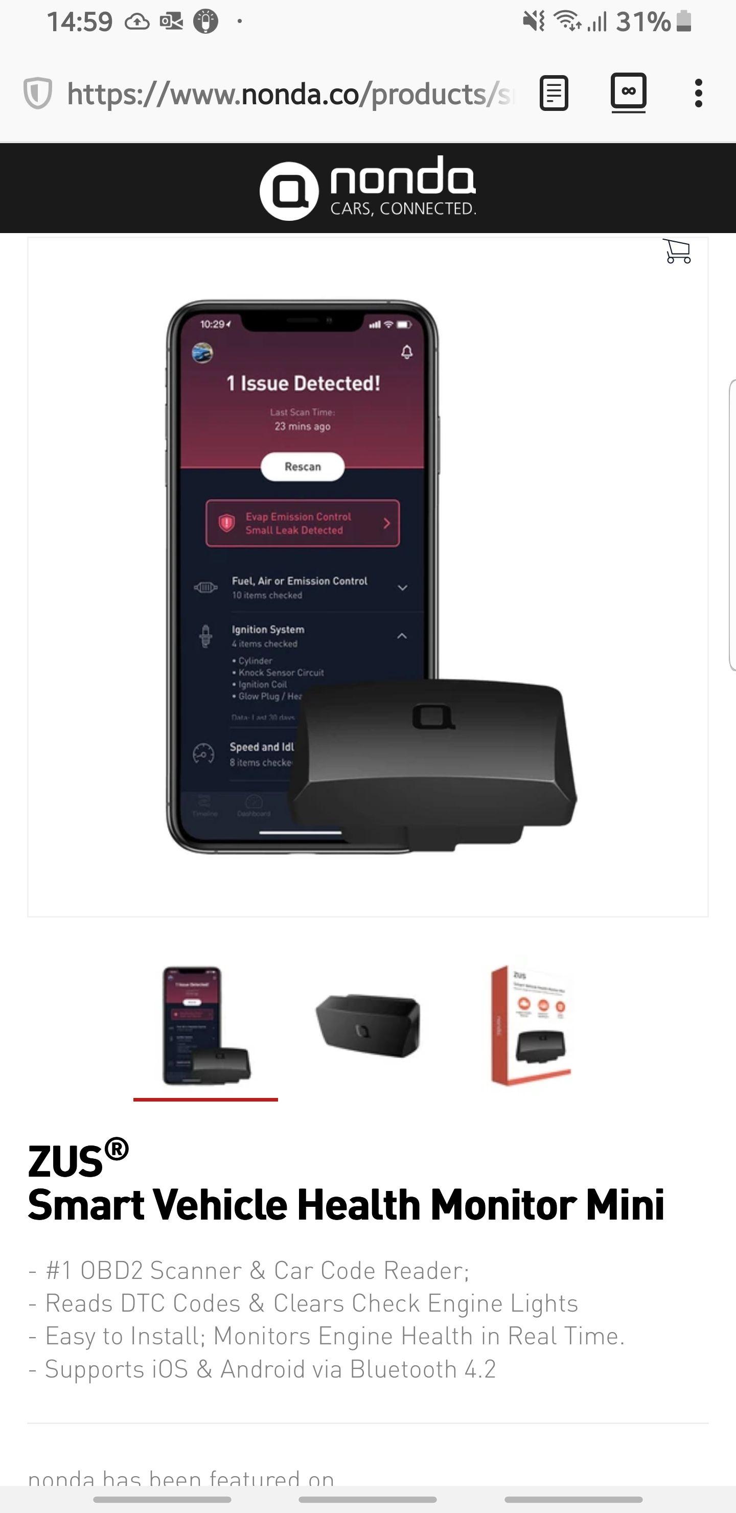 NONDA Smart Vehicle Monitor Mini za darmo (płatność za wysyłkę)