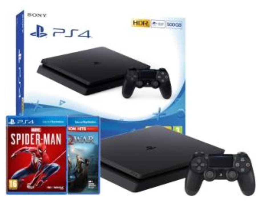 Sony PlayStation 4 Slim 500GB + Marvel's Spider-Man + God of War