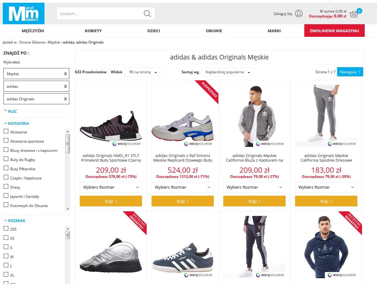 Adidas w MandMdirect