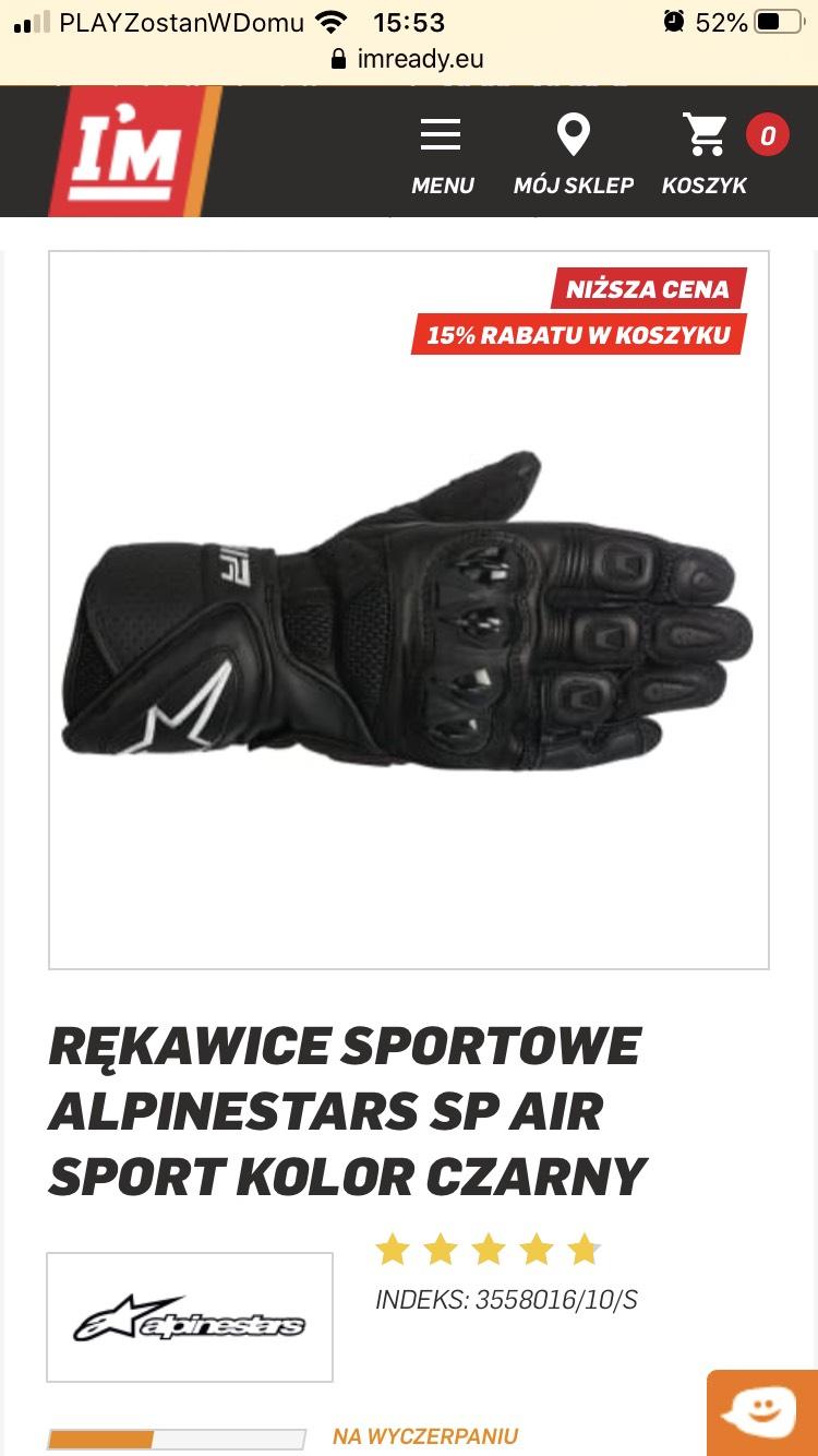 Rękawice motocyklowe Alpinestars !