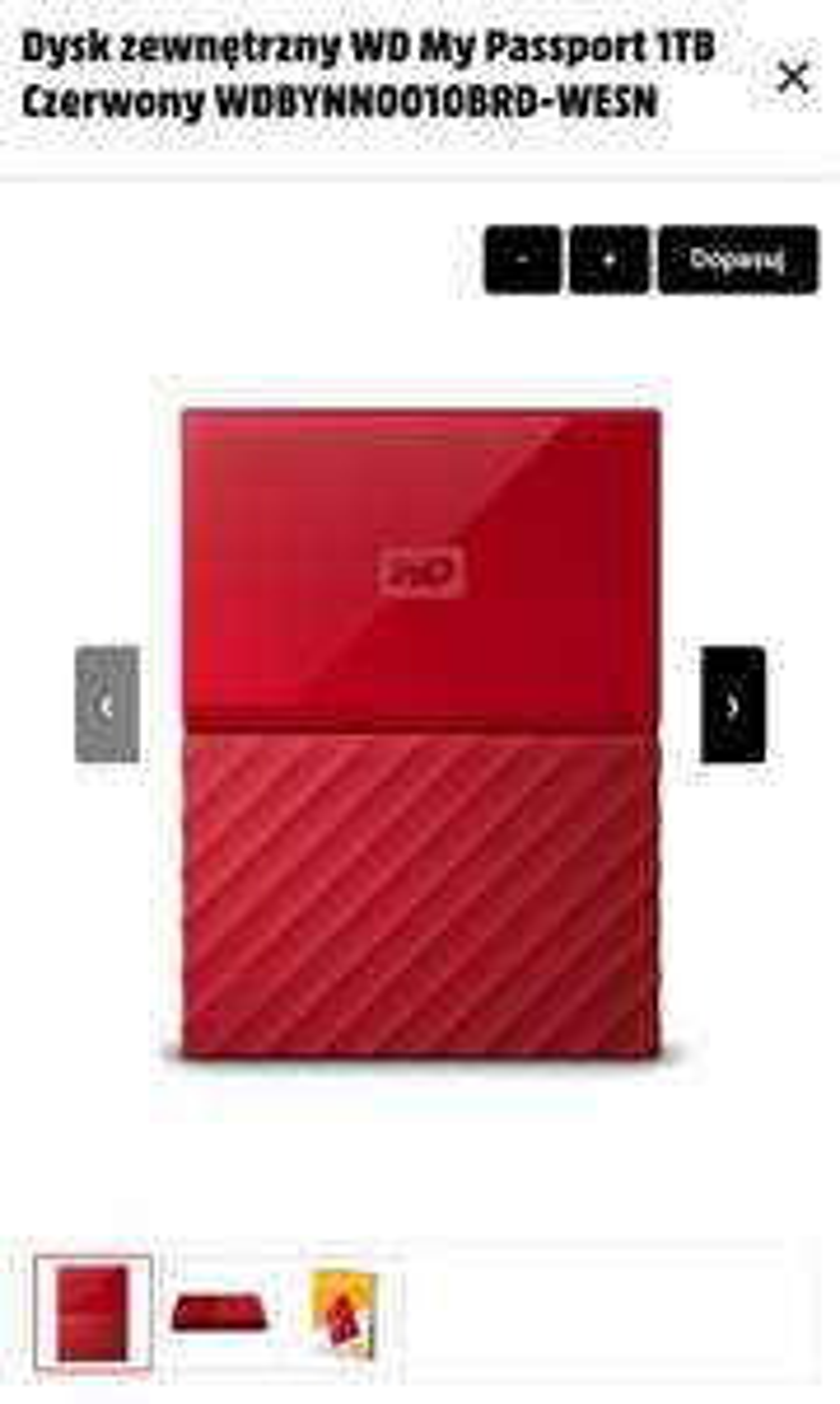 Dysk zewnętrzny WD My Passport 1TB USB 3.0 ( dostępne też czerwony kolor )