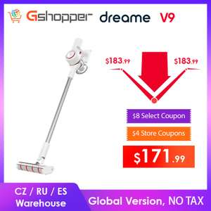 Odkurzacz Xiaomi Dreame V9 wysyłka z Czech/Hiszpanii za $153,26