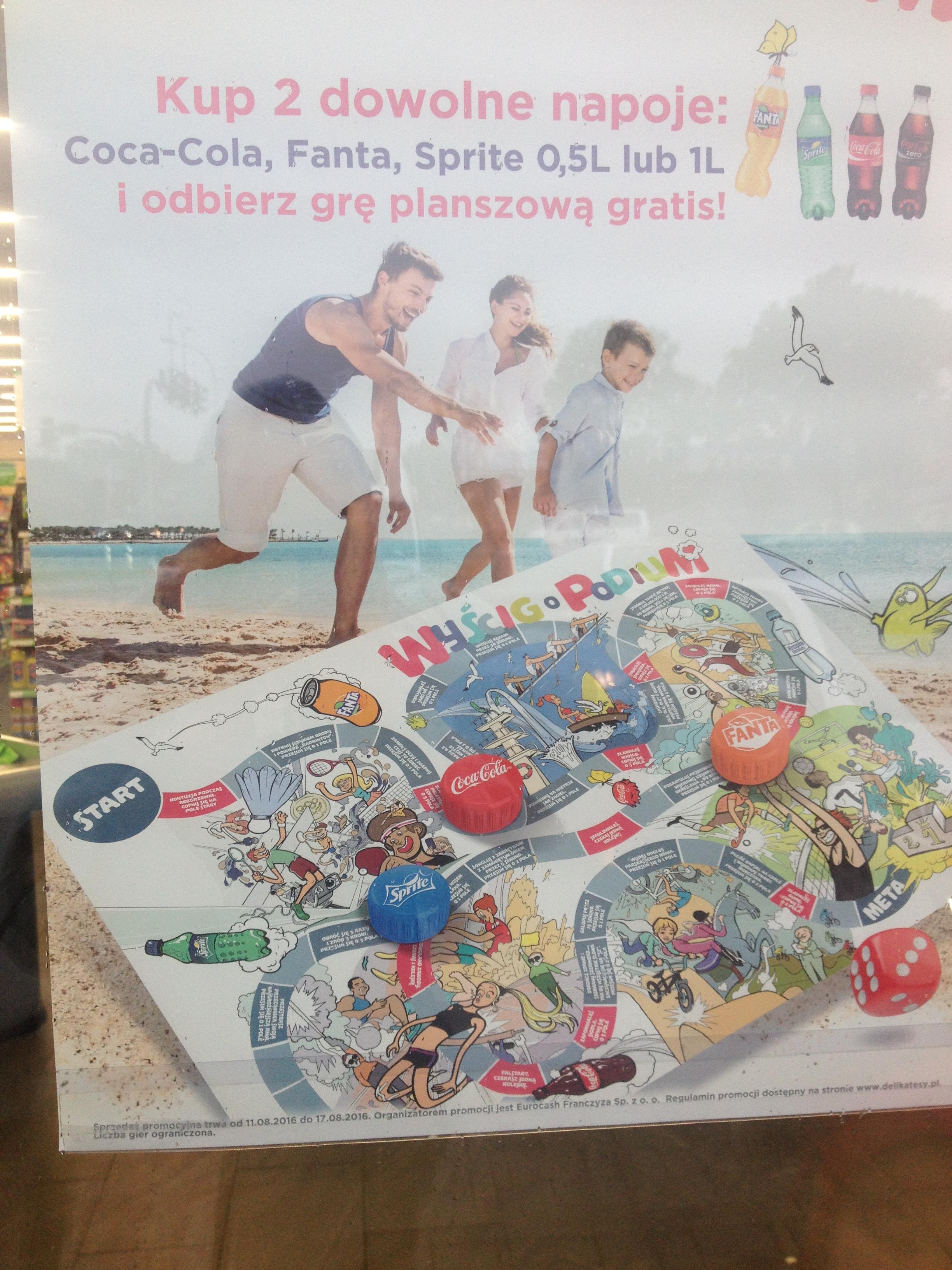 Gra planszowa gratis przy zakupie dwóch napojów 0,5L/1L @ Delikatesy Centrum