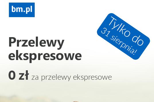 Darmowe przelewy natychmiastowe @BM.pl