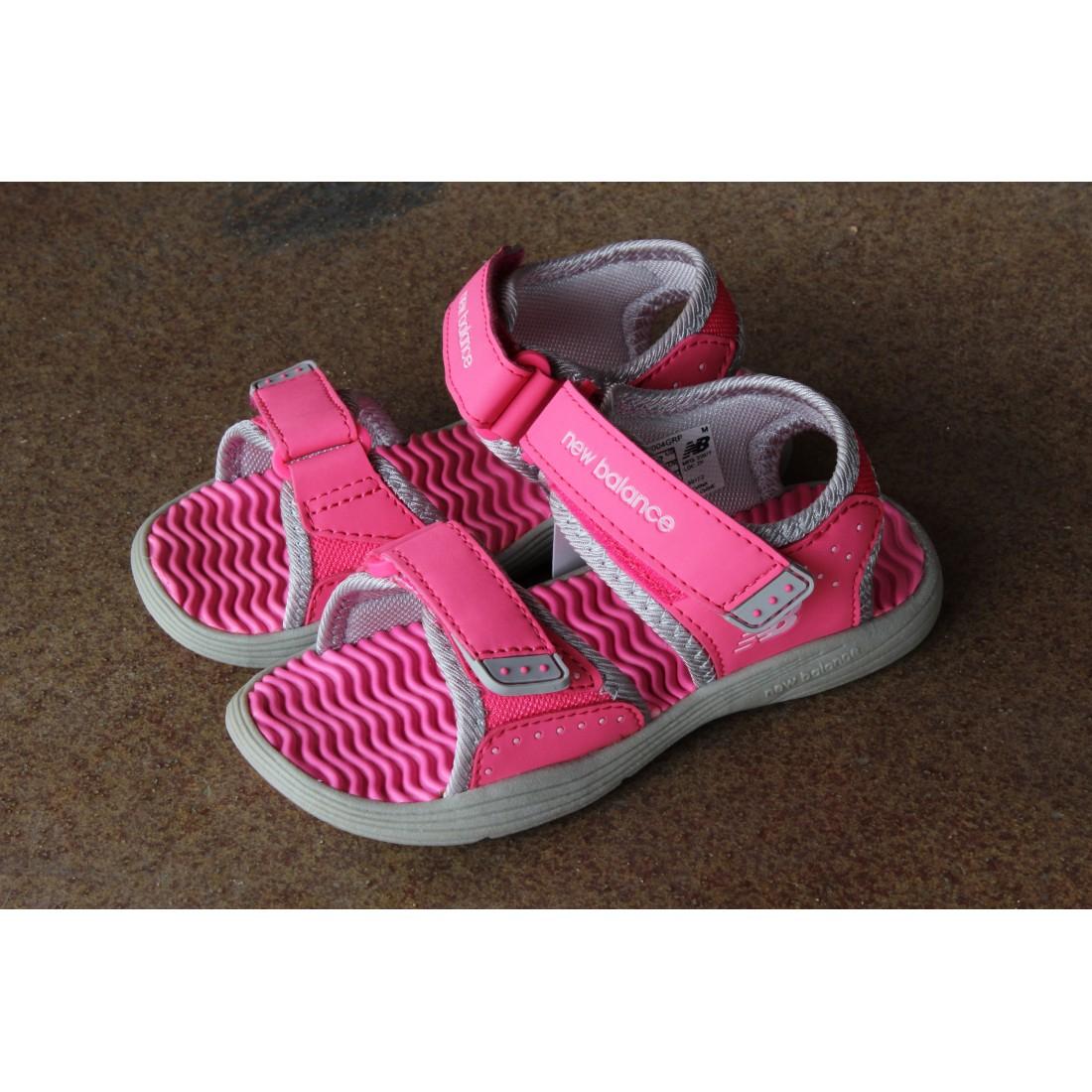 Sandałki dziecięce NB rożowe i fioletowe
