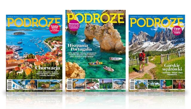 Kwartalna prenumerata miesięcznika Podróże