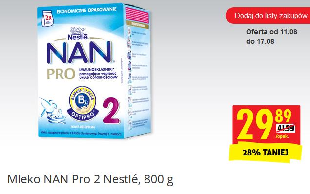 Mleko Nestle NAN Pro 800g za 29,89zł @ Biedronka