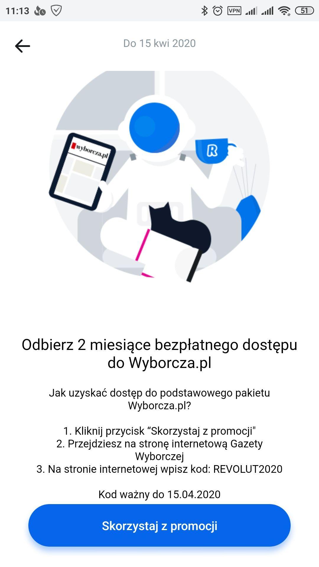 Wyborcza.pl na 2 miesiące z Revolut