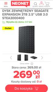 "ADATA Gaming 2TB 2.5"" outlet - WYPRZEDANY; SEAGATE Expansion 3TB 2.5"" outlet - 309PLN#neonet.pl"