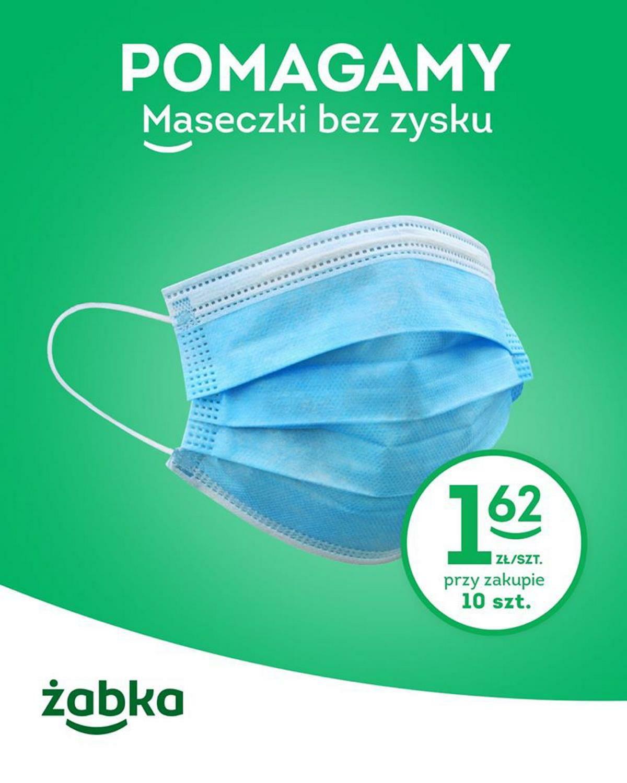 Maseczki ochronne 10 szt. za 16 zł - Żabka