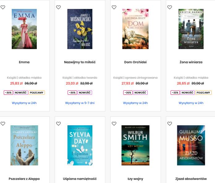 Literatura piękna i obyczajowa - 3 dowolne książki za 69,99 zł @Świat Książki