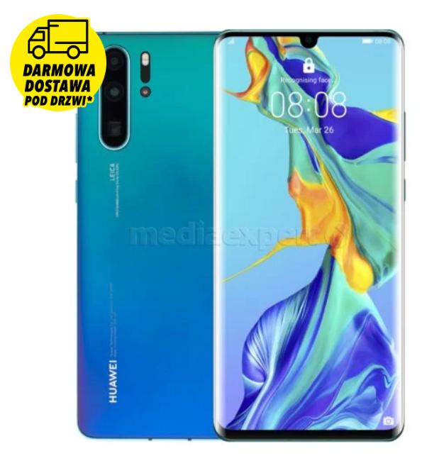 Smartfon HUAWEI P30 Pro 6/128GB Aurora niebieski + Smartband HONOR Band 5