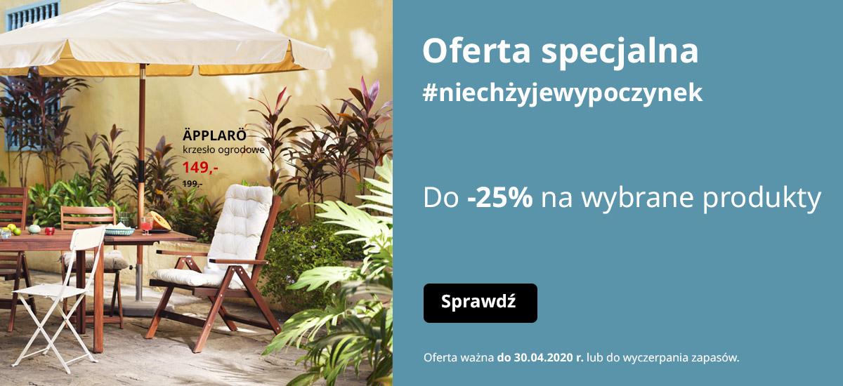 Do 25% rabatu na produkty z kategorii Balkon i Ogród @ Ikea