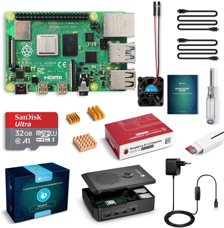 Zestaw Raspberry Pi 4 4GB z dodatkami