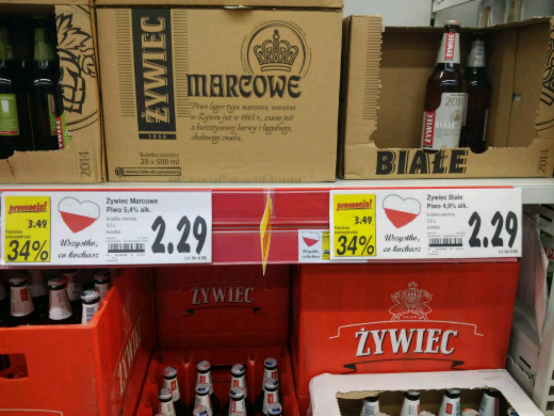 Żywiec Białe, Marcowe i Bock za 2.29 zł (-34%) @Kaufland