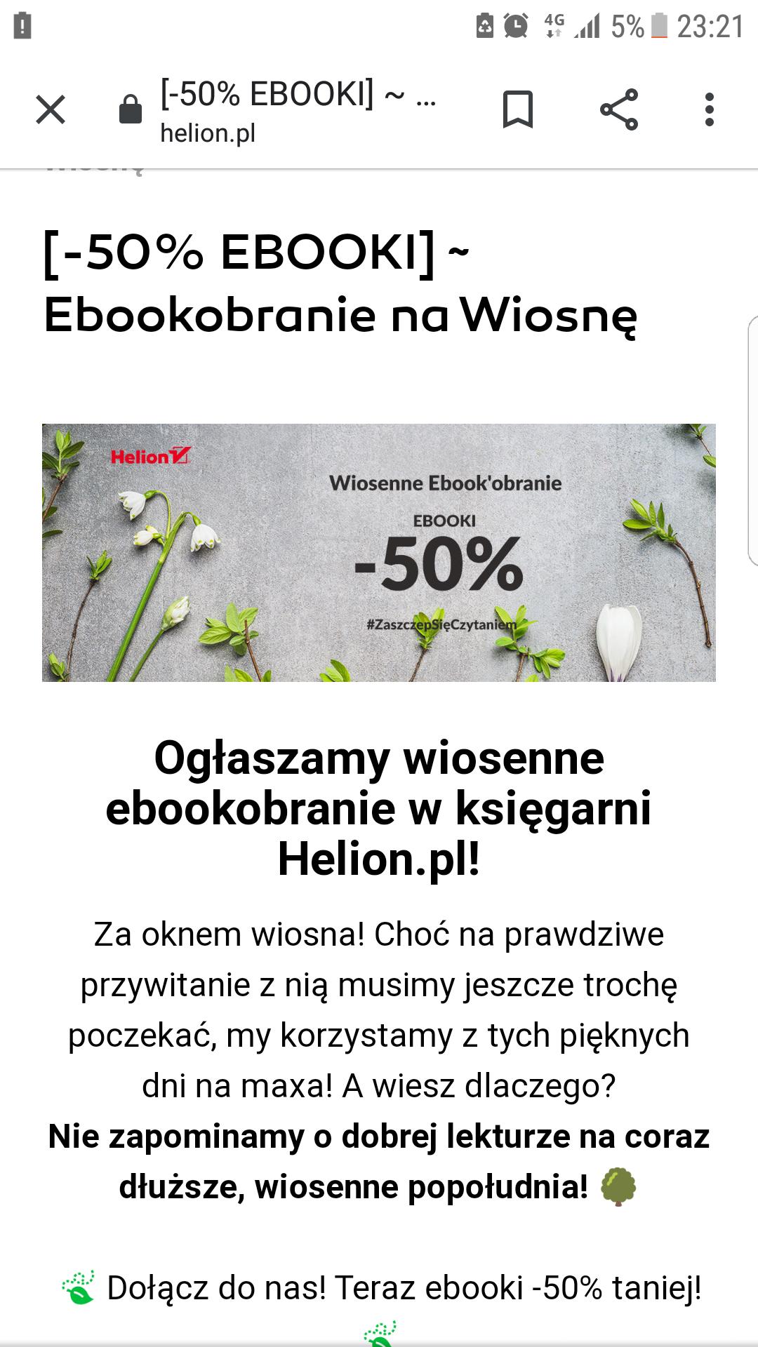 Helion -50% ebooki